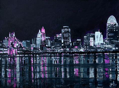 paint nite cincinnati image gallery nighttime skyline paintings
