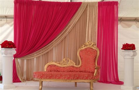 Simple understated Indian wedding decor for a smaller