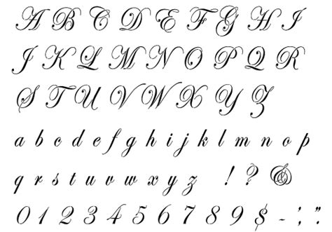 printable script font letters cursive script tattoo alphabet free tattoo patterns