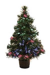 miniature led fibre optic christmas tree 30cm tall