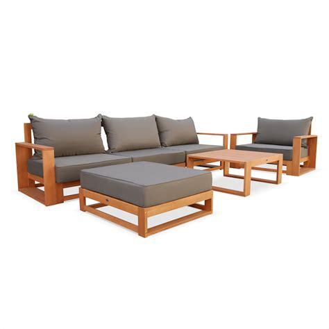 canape de jardin en bois canape de jardin bois table de jardin ronde metal