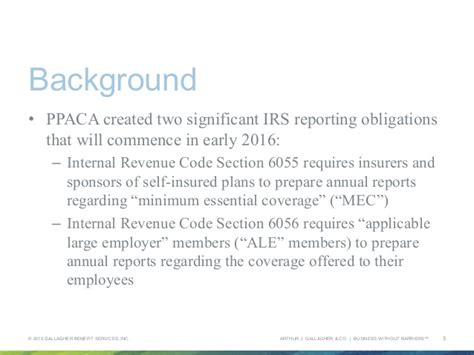 irs section 6056 aca compliance playbook collaborate 15 presentation
