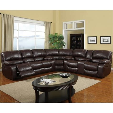 rv sectional global furniture usa leather reclining sectional in