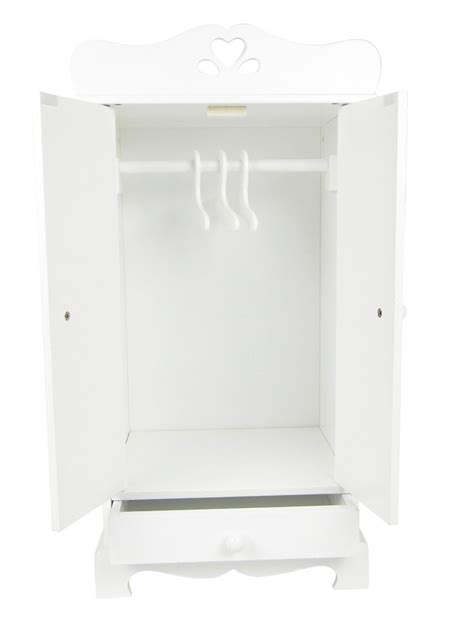 18 inch doll wardrobe armoire amazon com doll armoire furniture 18 inch white armoire