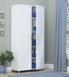 Tall Kitchen Storage Cabinet by Tall Storage Cabinet White Double Door Utility Kitchen