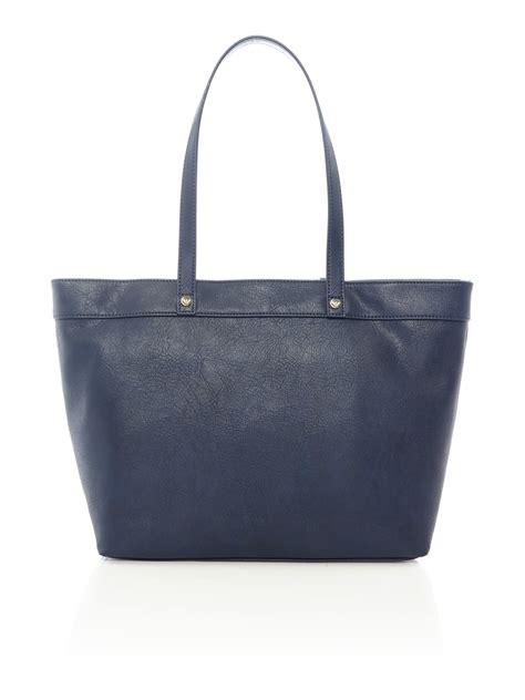 armani navy large shoulder tote bag in blue navy lyst