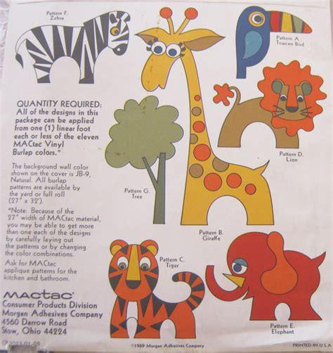 design pattern for zoo vintage animal applique pattern 1960s zoo safari theme kids