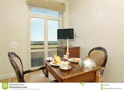 Dining Room In Hotel Definition Hotel Room With Dining Table Stock Photo Image 3598832