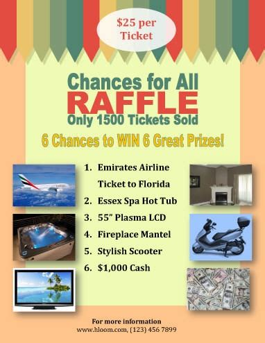 Free Prize Giveaways - 16 free raffle flyer templates prize cash 50 50 fundraising and more