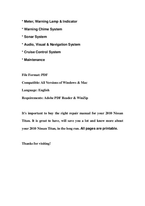 service manuals schematics 2006 nissan titan navigation system service manual auto air conditioning repair 2010 nissan titan security system loaded 2010