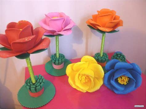imagenes de flores en fomi plumas bol 237 grafos decoradas con flores de foami fomi