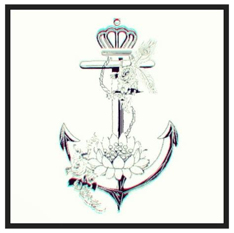 crown and anchor tattoo anchor dont like the crown change the flower to a