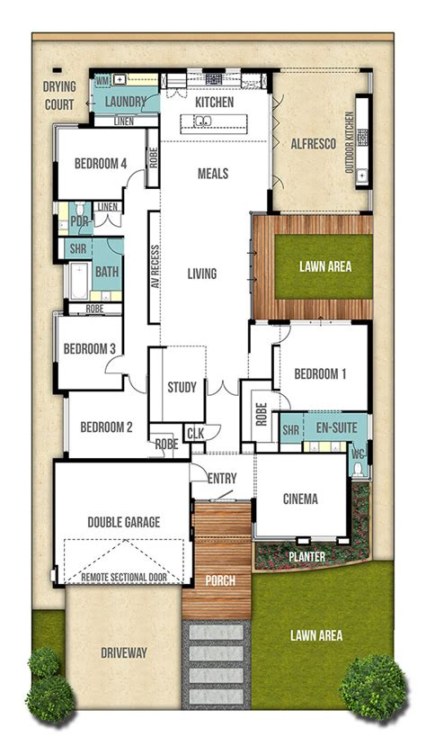 single storey house plan perth quot the moore quot by boyd design flat roof 4 bhk single floor low cost home plan