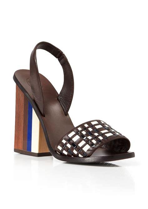 Heels Toryburch Import 2 burch burch slingback sandals emori chunky high heel shoes shop it to me