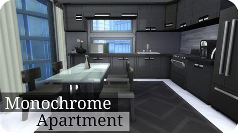 monochromatic apartment sims 4 speed build modern monochrome apartment yin yang