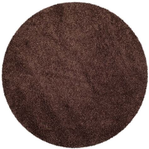 brown circle rug safavieh milan shag rug in brown sg180 2525 5r