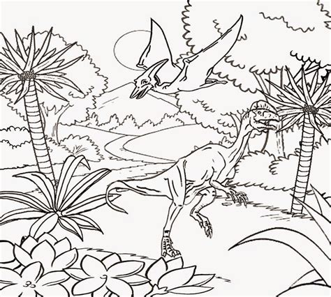 dinosaur jungle coloring page free coloring pages printable pictures to color kids