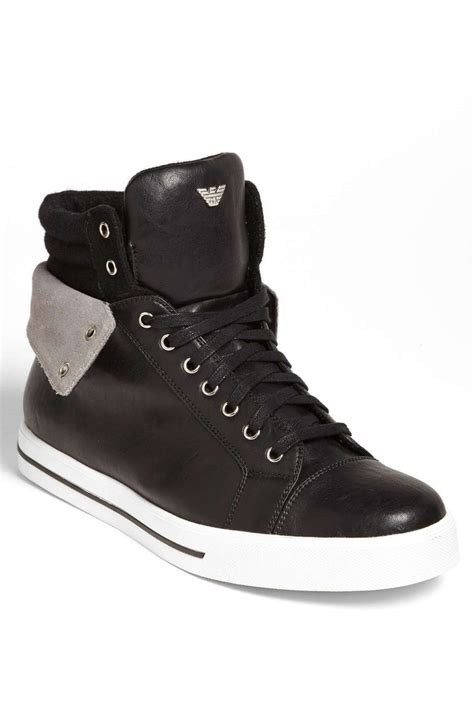 best black boots mens the armani high top sneaker on wantering