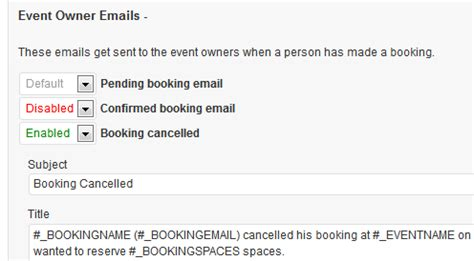 Custom Booking Email Templates Events Manager For Wordpress Booking Confirmation Email Template