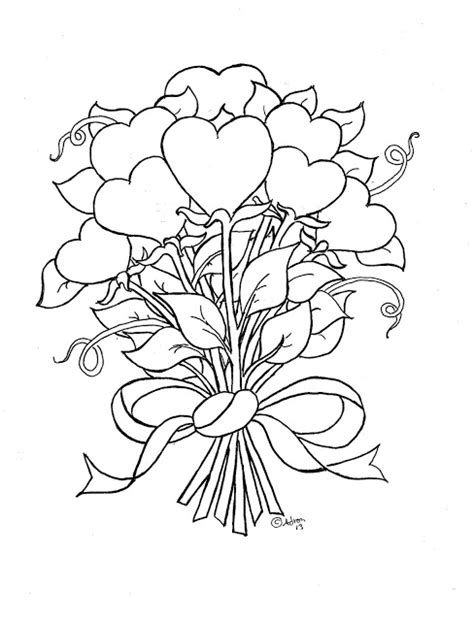 hearts and roses coloring pages printable coloring pages for kids by mr adron flower hearts kid s