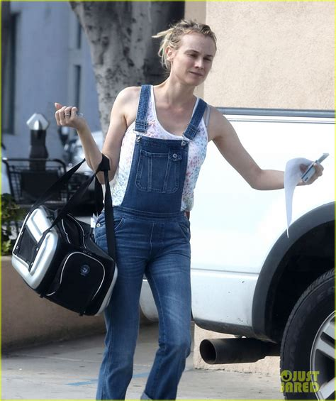 Diana Overall diane kruger wears overalls to bring cat to the