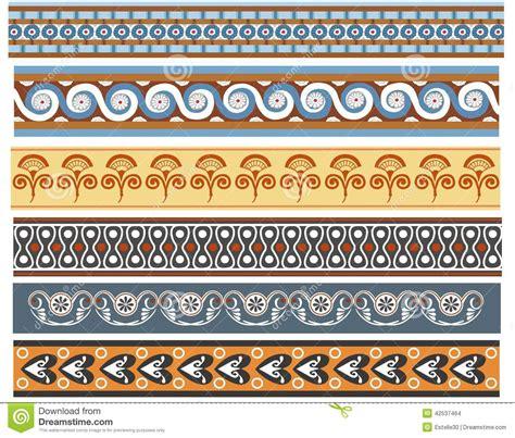 cenefas egipcias a set of ancient minoan patten designs stock illustration