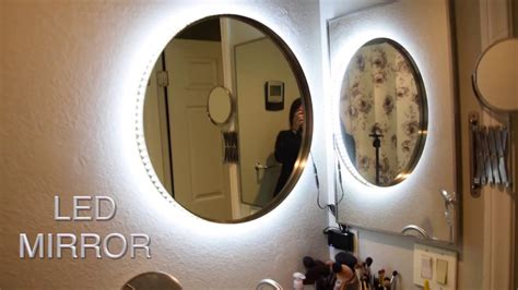 diy vanity mirror with led lights diy vanity mirror w led lights cheap and easy tesiabeau