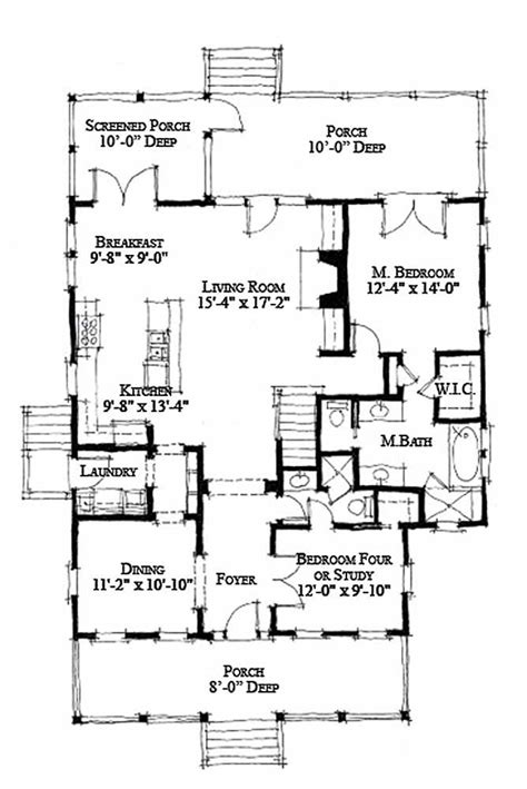 1970s house plans cottage style house plan 4 beds 3 baths 1970 sq ft plan 464 13