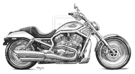 Harley Davidson Road King Drawing Harley Davidson V Rod