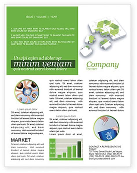 recycle technology newsletter template for microsoft word