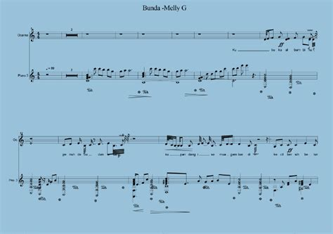 tutorial piano lagu bunda bunda melly g partitur musik klasik
