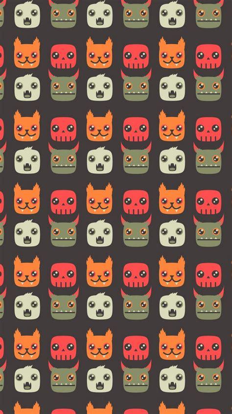 monsters cartoon pattern iphone  wallpaper ipod