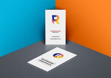 Cards Psd Templates by Business Card Mockup Psd Template Graphicsfuel