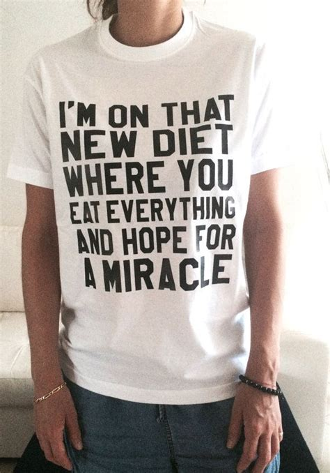 Channel Cocaine Big Size White Tshirt i m on that new diet tshirt white fashion slogan