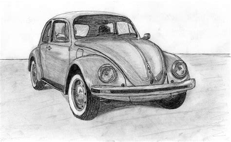 volkswagen bug drawing volkswagen beetle car drawing by kokas art