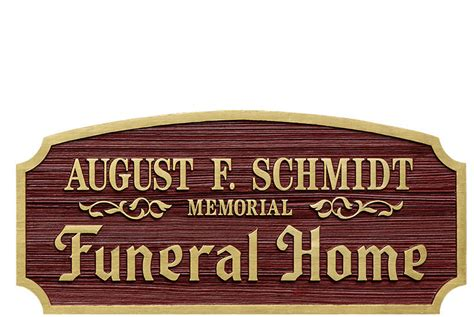 home august f schmidt memorial funeral home locate din