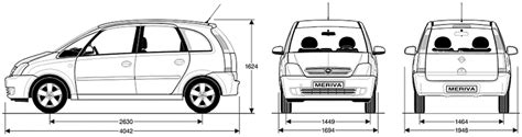 opel meriva 2004 dimensions z14xep руководство по ремонту руководства инструкции
