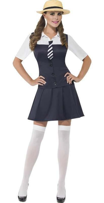 Costume Heavenly School Japanese Dress 8 blue st trinians school fancy dress costume