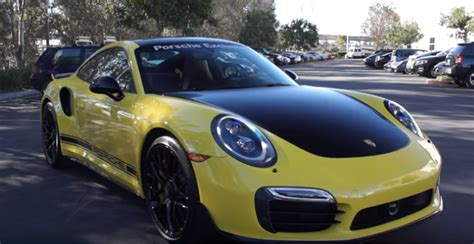 yellow porsche png yellow porsche exclusive 991 turbo s dpccars