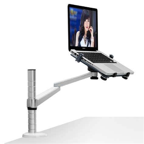 Laptop Desk Arm Free Standing Dual Arm Monitor Desk Mount Computer Table Stand And Laptop Notebook Stand Laptop