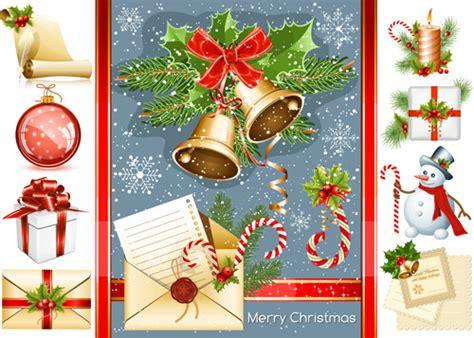 christmas vivid decor elements vector graphics free vector in adobe illustrator ai ai