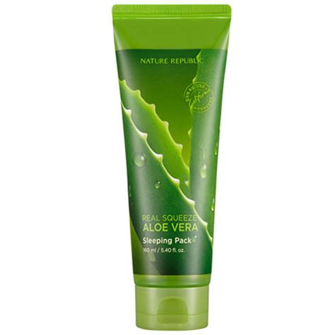 nature republic real squeeze aloe vera sleeping pack