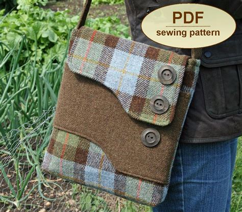 pattern for sewing a bag sewing pattern to make the melford messenger bag pdf pattern