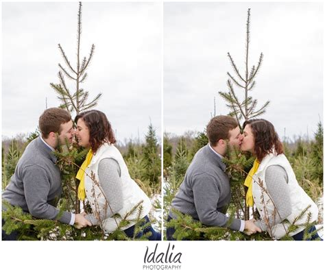 michelle and alex tree farm engagement