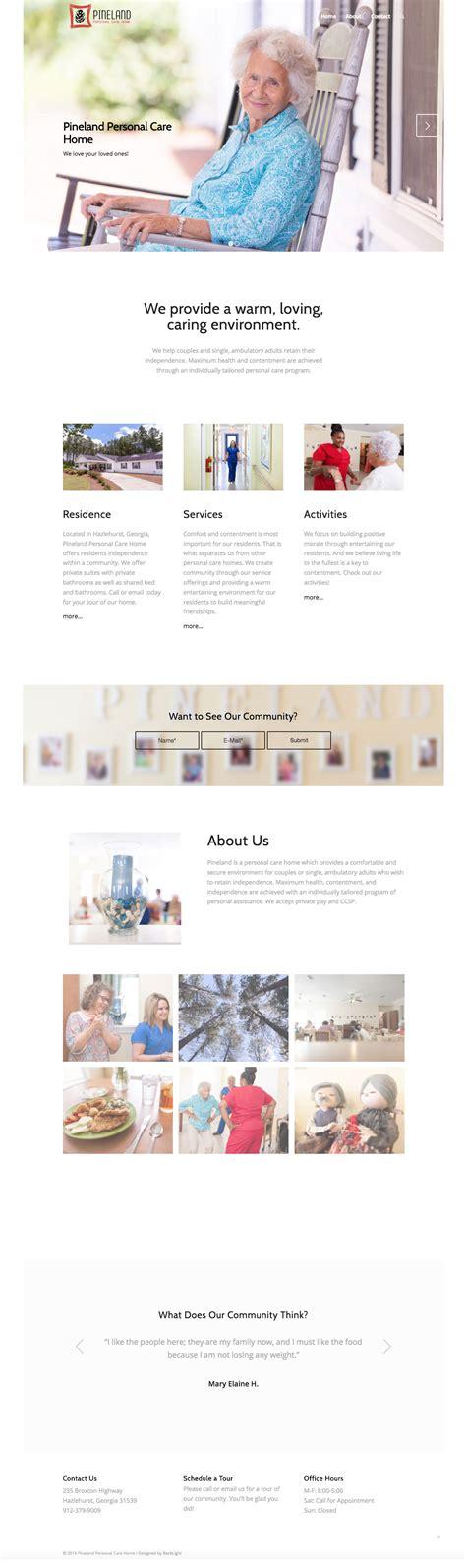 website design pineland pch backlight i cast your light