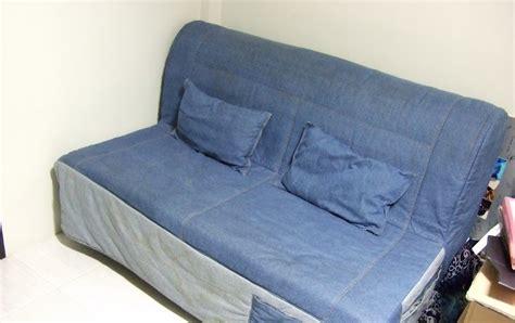 miffed ikea sofa bed queen size  denim upholstry