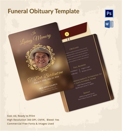 funeral obituary template funeral obituary template pictures to pin on