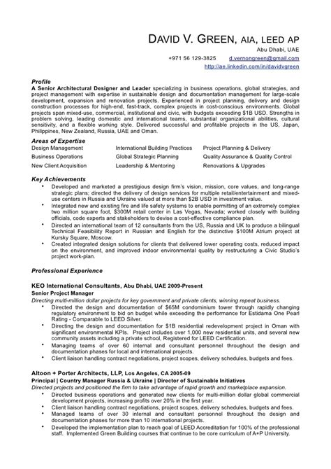 Green Building Consultant Sle Resume by David Green Resume Pdf