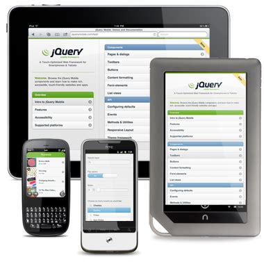jquerymobile template introducing the jquery mobile metro theme