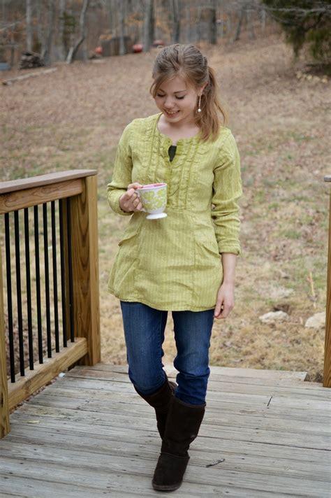 Etics Tunic Ori Pu green linen tunic fresh modesty